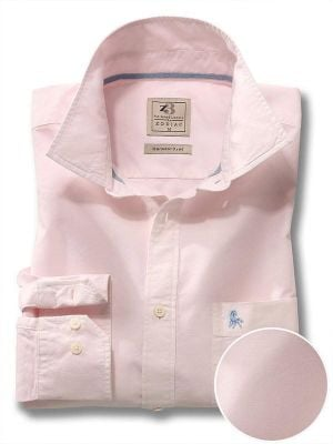 Marbella Pink Cotton Casual Solids Shirt