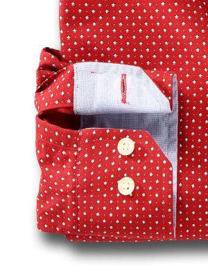 Pryor Red Casual Printed Shirt