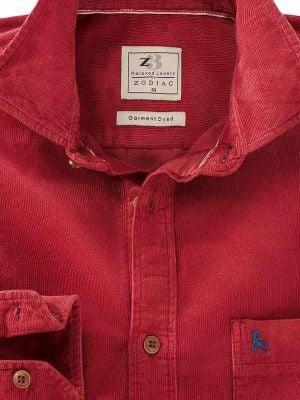 Rodeo Red Cotton Casual Corduroy Shirt