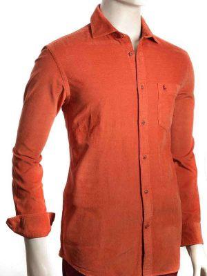 Rodeo Rust Cotton Casual Corduroy Shirt