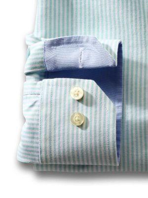 Sidari Sea Green Casual Stripe Shirt