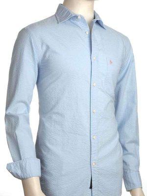 Chelsea Sky Seersucker Solid Shirt