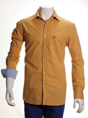 Nadal Yellow Cotton Casual Prints Shirt