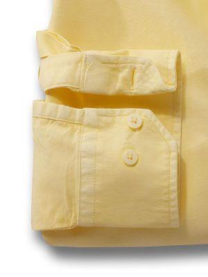 Marbella Yellow Cotton Casual Solids Shirt