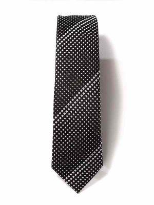 ZT-300 Dots Black Skinny Tie
