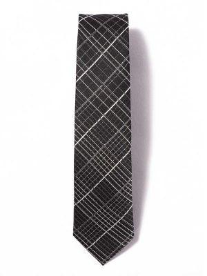 ZT-39 Checks Black Skinny Tie