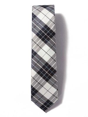 ZT-258 Checks Blue Skinny Tie