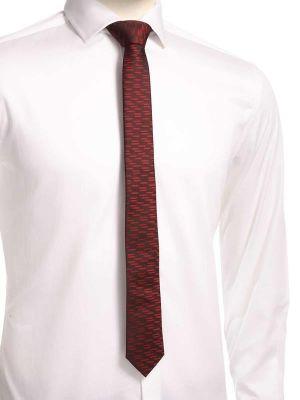 ZT-254 Structure Burgundy Skinny Tie