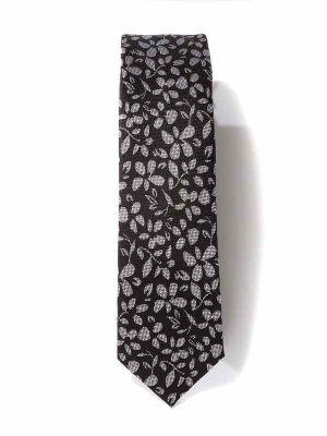 ZT-306 All Over D. Grey Skinny Tie