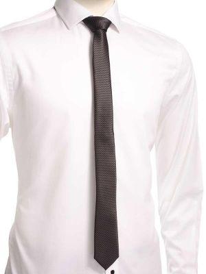 ZT-255 Structure D.Grey Skinny Tie