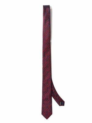 ZT-301 Structure Maroon Skinny Tie