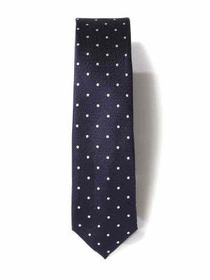 ZT-303 Dots Navy Skinny Tie