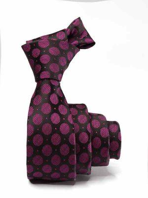 ZT-304 Dots Purple Skinny Tie