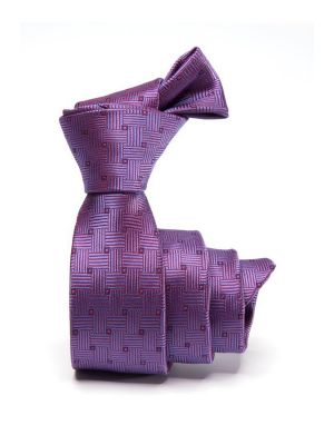 ZT-269 Structure Purple Skinny Tie