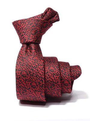 ZT-252 Structure Red Skinny Tie