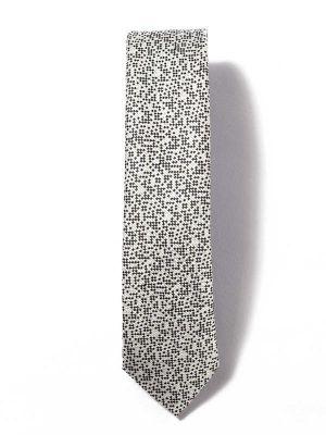 ZT-252 Structure Silver Skinny Tie