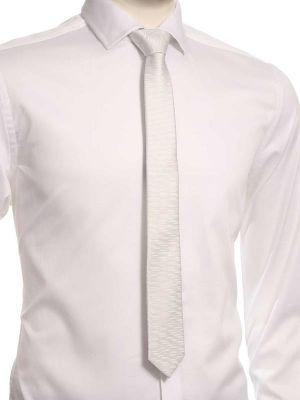 ZT-254 Structure White Skinny Tie