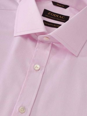 Antonello Pink Cotton Classic Fit Formal Solids Shirt