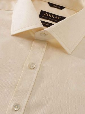Antonello Yellow Cotton Classic Fit Formal Solids Shirt