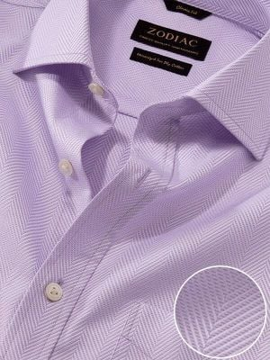 Antonello Lilac Cotton Classic Fit Formal Solid Shirt