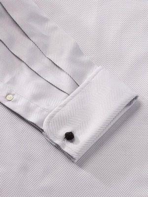 Antonello Light Grey Cotton Classic Fit Formal Solids Shirt