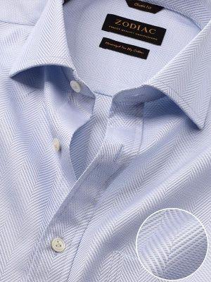 Antonello Sky Cotton Classic Fit Formal Solids Shirt