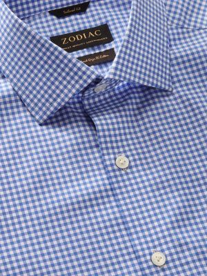 Barboni Tailored Fit Short Sleeves Blue Shirt