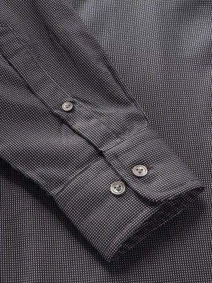 Barolo Dark Grey Cotton Classic Fit Evening Solids Shirt