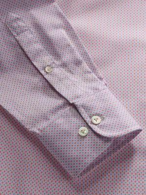 Bassano Pink Cotton Classic Fit Casual Prints Shirt