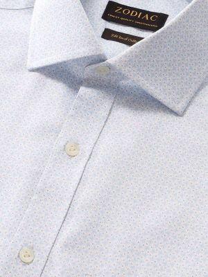 Bassano Sky Cotton Classic Fit Formal Prints Shirt
