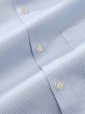 Bassano Sky Cotton Tailored Fit Casual Prints Shirt