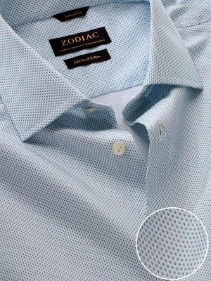 Bassano Sky Cotton Tailored Fit Casual Printed Shirt