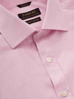 Benna Pink Cotton Classic Fit Formal Solids Shirt