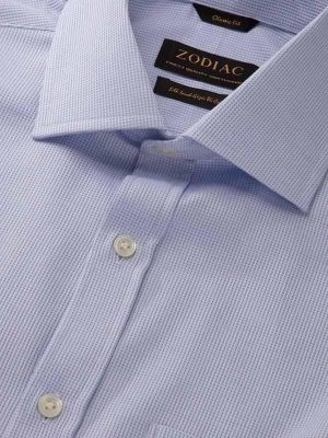 Benna Sky Cotton Classic Fit Formal Solids Shirt