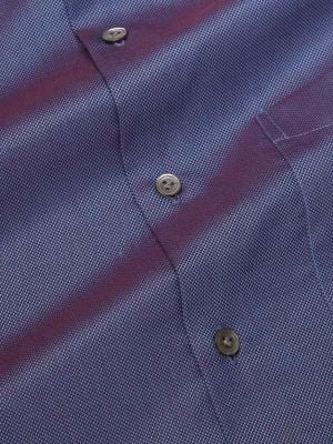 Marzeno Blue Cotton Tailored Fit Evening Solids Shirt