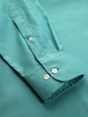 Marzeno Aqua Cotton Classic Fit Evening Solid Shirt