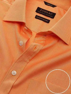 Marzeno Orange Cotton Classic Fit Evening Solids Shirt