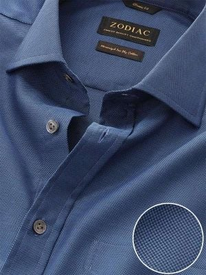 Marzeno Navy Cotton Classic Fit Casual Solids Shirt