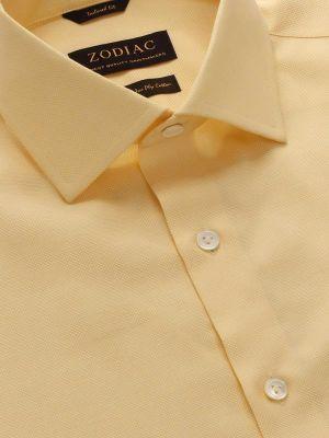 Marzeno Tailored Fit Yellow Shirt