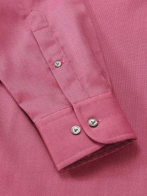 Marzeno Dark Pink Cotton Classic Fit Casual Solids Shirt