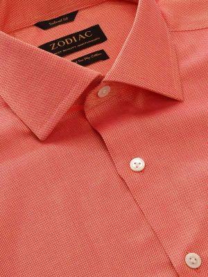 Marzeno Orange Cotton Tailored Fit Casual Solids Shirt