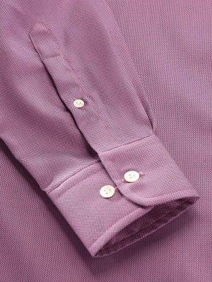 Marzeno Purple Cotton Tailored Fit Casual Solids Shirt