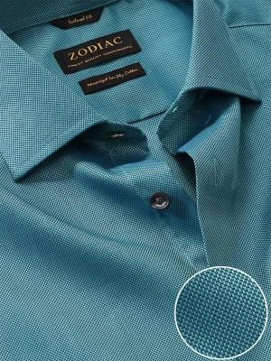Marzeno Tailored Fit Turquoise Shirt