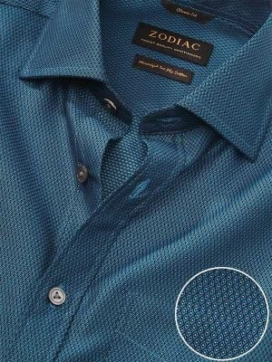 Bruciato Teal Cotton Classic Fit Evening Solid Shirt