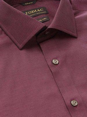 Bruciato Purple Cotton Tailored Fit Evening Solid Shirt