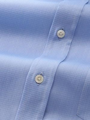 Carletti Blue Cotton Classic Fit Formal Solids Shirt