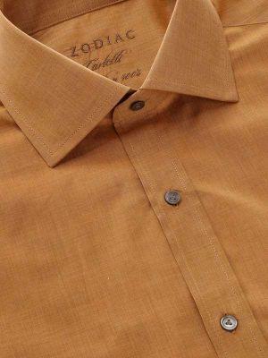 Carletti Ochre Cotton Classic Fit Formal Solids Shirt