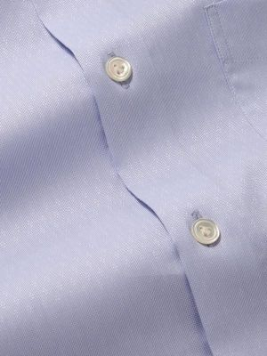 Carulli Sky Cotton Tailored Fit Formal Solids Shirt