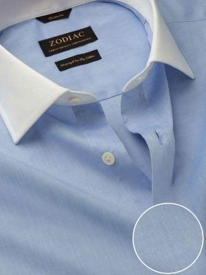Bankers Sky Cotton Classic Fit Formal Solids Shirt