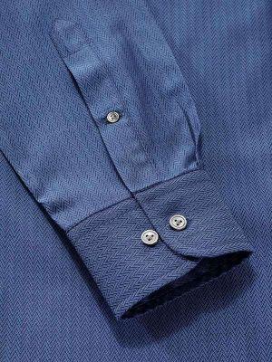 Chianti Navy Cotton Classic Fit Evening Solids Shirt